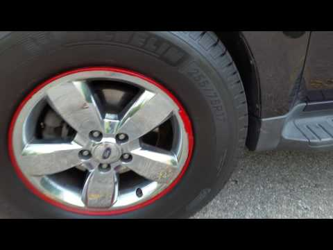 Largest tires on Ford Escape factory rims