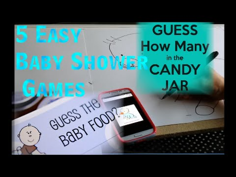5 Easy Baby Shower Games