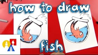 How To Draw Fish From The Cat In The Hat