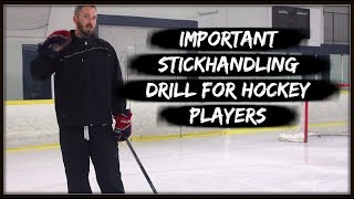 HOW TO IMPROVE YOUR STICKHANDLING SKLLS.  DRILL FOR HOCKEY PLAYERS.