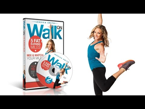 Walk On: 5 Fat Burning Miles Walking DVD featuring fitness expert Jessica Smith