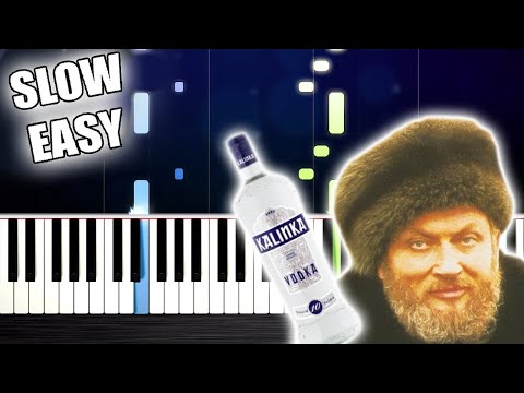 KALINKA - SLOW EASY Piano Tutorial by PlutaX