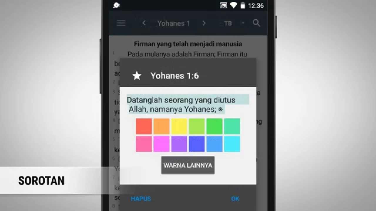 Cara Pakai Alkitab Android