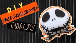 DIY Room Decor • The Nightmare Before Christmas •  Jack Skellington Pillow (No Sew) •  Heartcindy