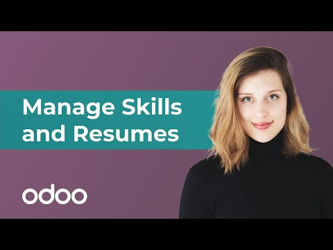 Manage Skills and Resumes | odoo Employees