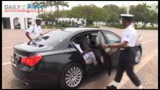 Scenes from Naval chief visit to Aso Villa