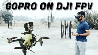 GOPRO ON DJI FPV | FULL FLIGHT VIDEO | FLYING ON A CONSTRUCTION SITE | BANDO | INDIA