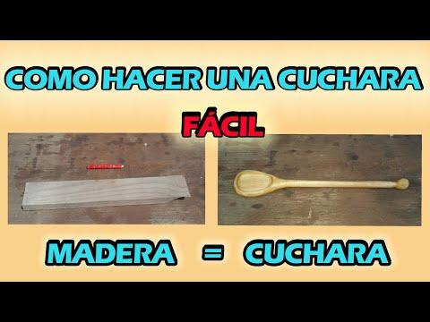 COMO HACER UNA CUCHARA DE MADERA MUY FACIL
