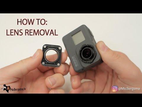 GoPro Hero7 Hero6 Hero5 Lens Removal - GoPro Tip #578   MicBergsma