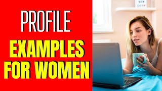 Online Dating Profile Examples For Women ✔️ #onlinedating #datingprofiles #datingtips