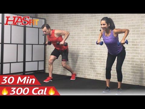 30 Min Beginner Weight Training for Beginners Workout Strength Training Dumbbell Workouts Women Men