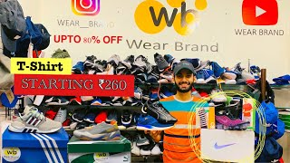 STARTING ₹260   UPTO 80% OFF   100% ORIGINAL SHOES AND CLOTHING   ADIDAS , PUMA , NIKE   WEAR BRAND