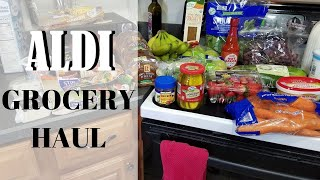 Aldi Grocery Haul for a Family of 3