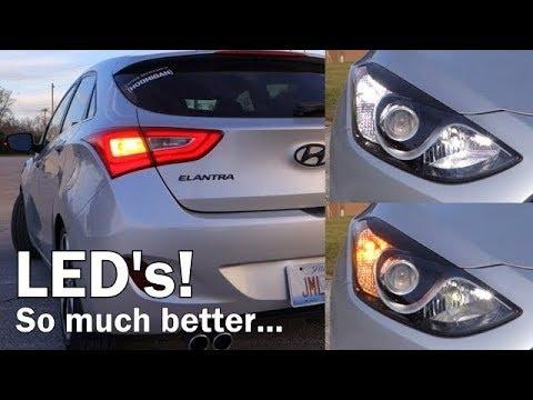 Installing Front/Rear Turn Signal LED Bulbs! - 2013 Hyundai Elantra GT
