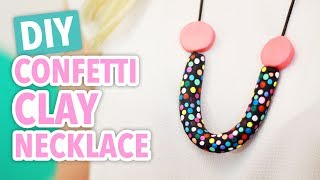 DIY Confetti Clay Necklace - HGTV Handmade