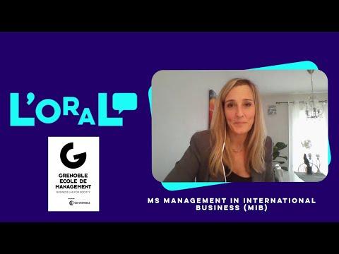 L'oral : manager d'affaires internationales