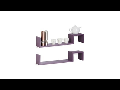 Hängeregal 2er Set in violett