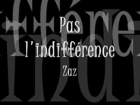 Pas l'indifférence