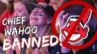 CLEVELAND INDIANS FANS REACT TO CHIEF WAHOO LOGO BAN!