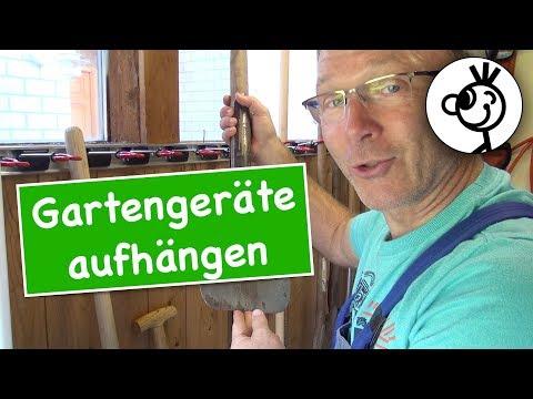 Gartengeräte vernünftig weghängen - BRUNS Gerätehalter