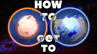 How to get to the North Pole (Arctic) and South Pole (Antarctica)