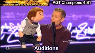 Paul Zerdin Ventriloquist Beat Boxes  Audition | America's Got Talent Champions 4 AGT