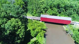 Red Covered Bridge Video (Princeton, Illinois)
