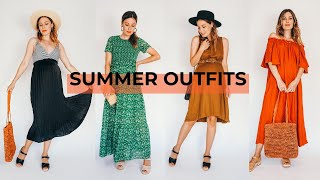 Summer Outfit Lookbook 2020 | Maternity Style | Sandgrens Clogs W/ Vintage & Thrifted | Tiny Acorn