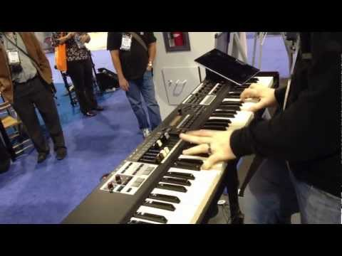 Kraft Music - Hammond SK1-73 Portable Organ Demo at NAMM 2013