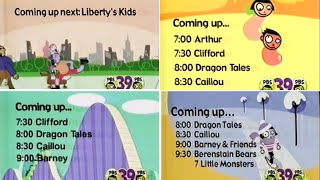 PBS Kids Schedule Bumper Compilation (Early 2003 WFWA-TV)