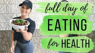 WHAT I EAT IN A DAY 🌮🌱 Health Gains Ep. 1: Full Day of Intuitive Eating | Healthy & Gluten-Free