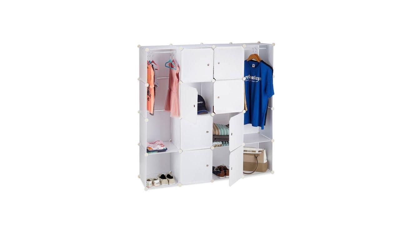 Kleiderschrank Stecksystem 12 Fächer
