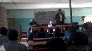 preview picture of video 'Esther Lamnyam as Speaker : Managing Puberty to Middle School Students at GBHS Bamenda Cameroon 3.'