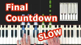 Europe - The Final Countdown - Piano Tutorial EASY SLOW - How To Play (Synthesia)