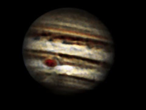 jupiter with  3 1/4 inch refractor telescope aka 80mm