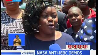 NASA supporters engage police forces in running battles as they demonstrate in the CBD