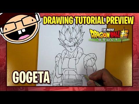 Drawing Gogeta Blue Dragon Ball Super Broly Cb Art Video