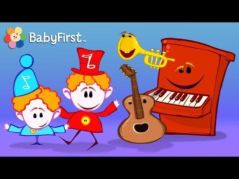 Aprendizaje musical para niños | Las Notas Musicales Compilacion | Instrumentos Musicales para niños