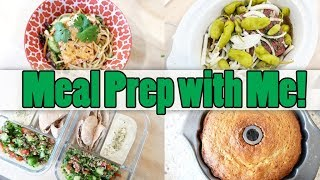 MEAL PREP 🤩 WITH ME! 🍜 COLD THAI NOODLE SALAD 🍌 BANANA BREAD 🥗 TABOULEH 🍺 BEER BRATS 🥒 HUMMUS