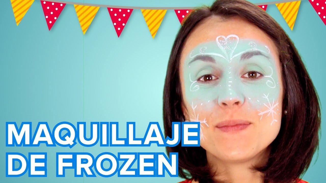 Maquillaje de Elsa de Frozen para niñas