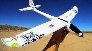 XK A800 RTF Four Channel Stabilized RC Glider Plane Flight Test Review