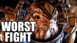 MASS EFFECT ANDROMEDA - Worst Fight Scene / Terrible Krogan Fight