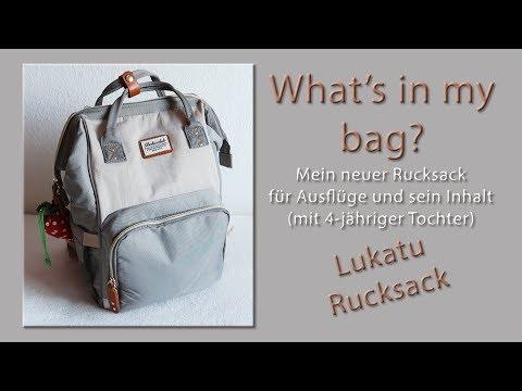WHATS IN MY BAG?   Ausflüge & Reise   4-jährigem Kind   LUKATU  Rucksack    Werbung/Markennennung