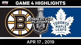 NHL Highlights | Bruins vs Maple Leafs, Game 4 – April 17, 2019