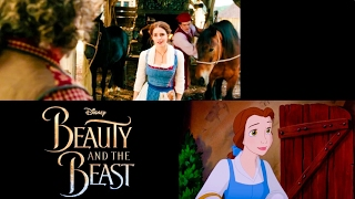 'Belle' Song Disney's Beauty and the Beast Comparison 1991 vs 2017 (Animated vs. Live Action)