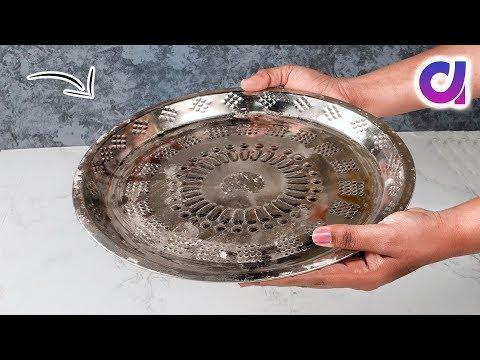 Very Easy Thali Decoration Idea | Diwali 2019 | Aarti thali decoration | Artkala