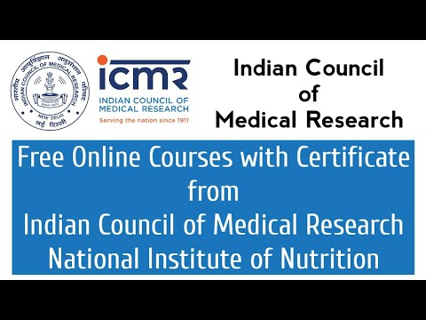 Indian Council of Medical Research Free Courses with Certificate ...