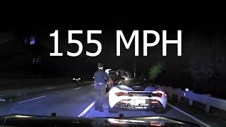Luxury Sports Car Goes 165MPH in a 65MPH, Short Police Chase