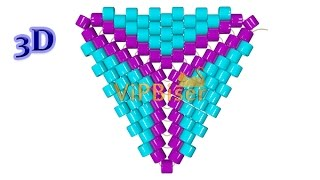 Бисерный треугольник.3D Урок