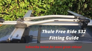 Thule free ride 532 bike rack assembly instructions - including mounting to roof rack